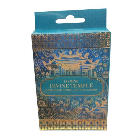 Divine Temple Jasmine Scented Indian Incense Cones Sifcon